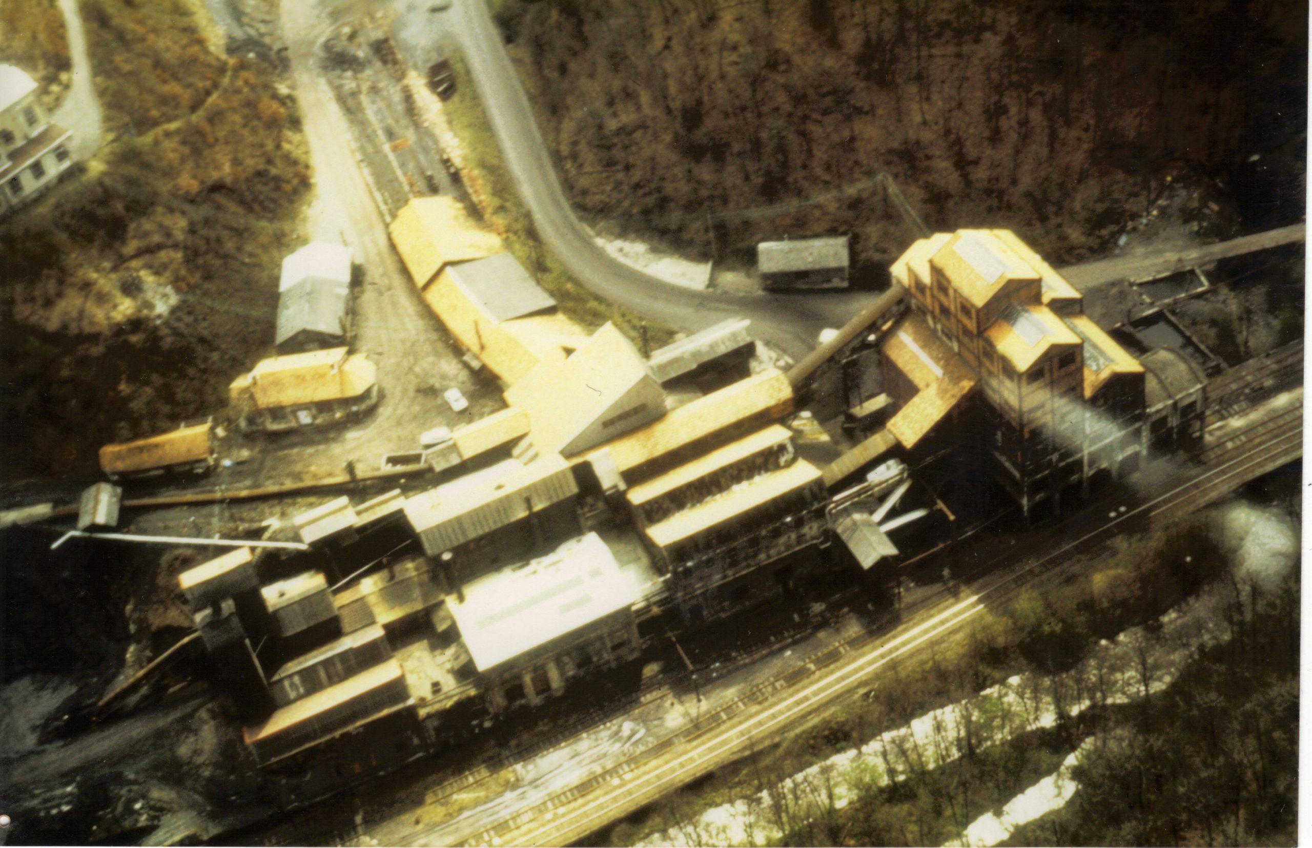 histoire du musée de la mine de Messeix-vue aérienne
