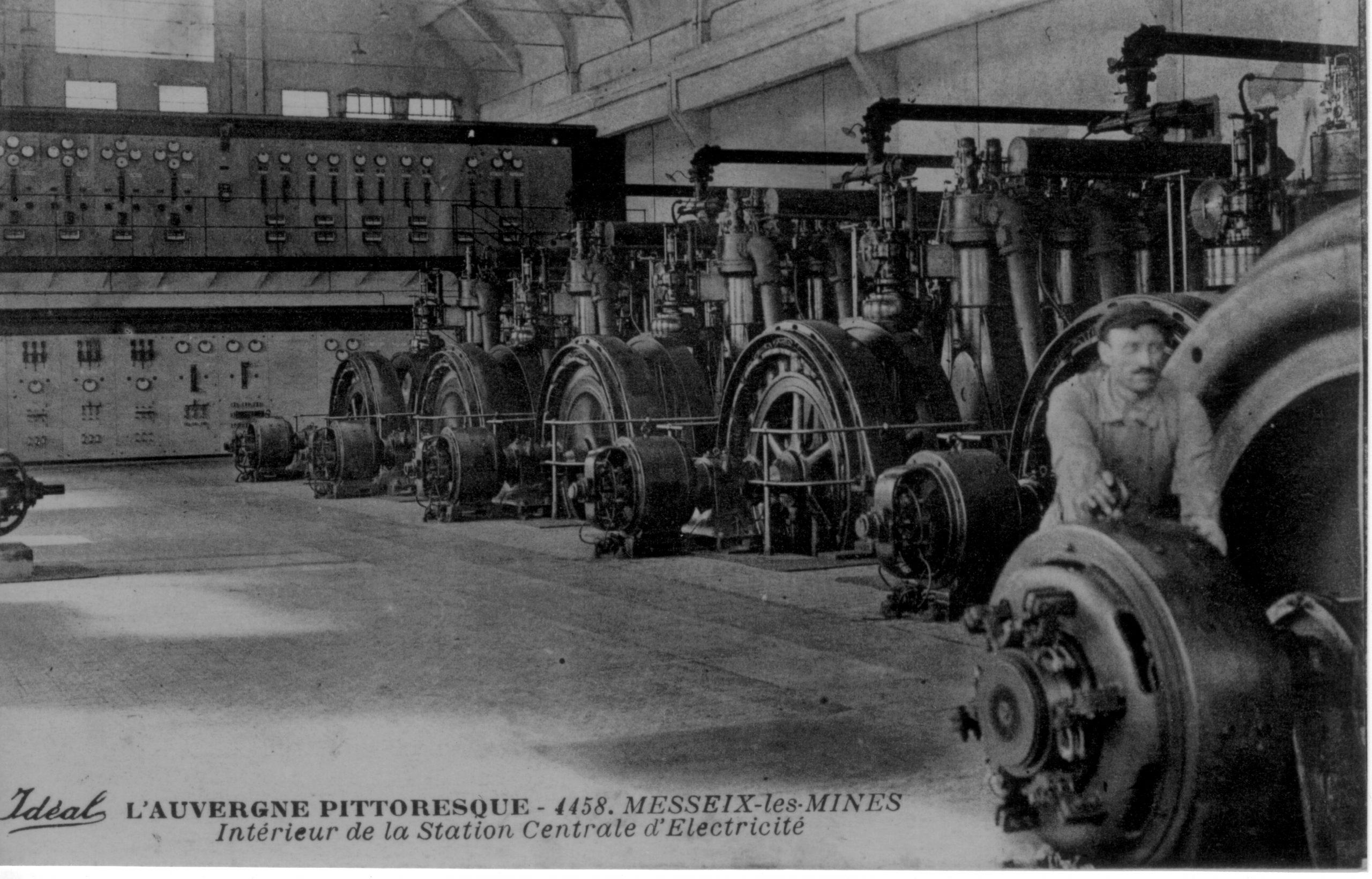 histoire de la mine de Messeix -Centrale électrique - Le Puits TEYRAS