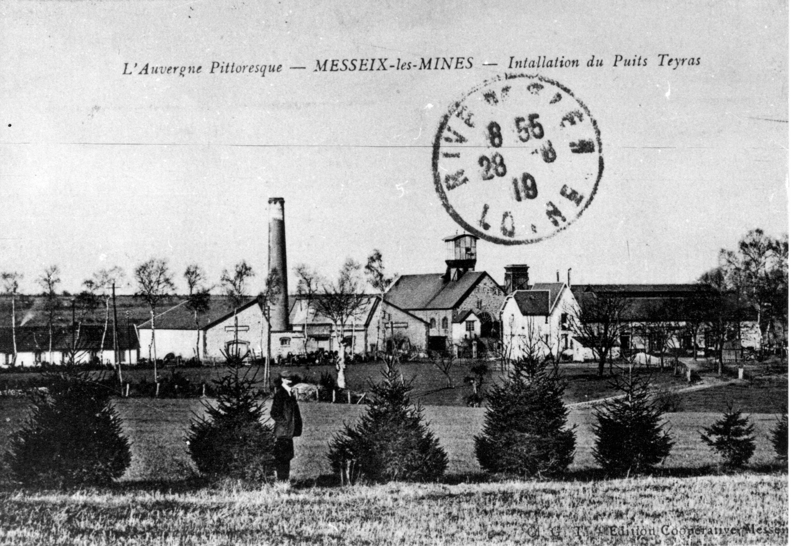 histoire de la mine de Messeix - Le Puits TEYRAS.