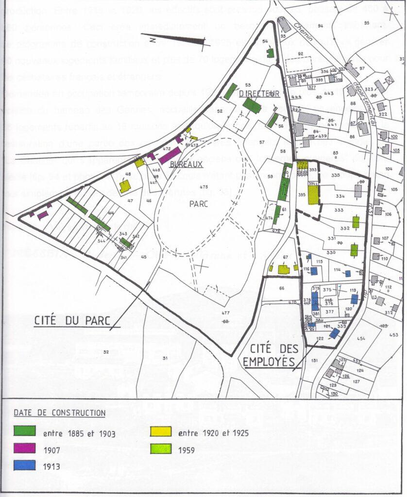 Cités ouvrières -mine de Messeix-- cité du Parc