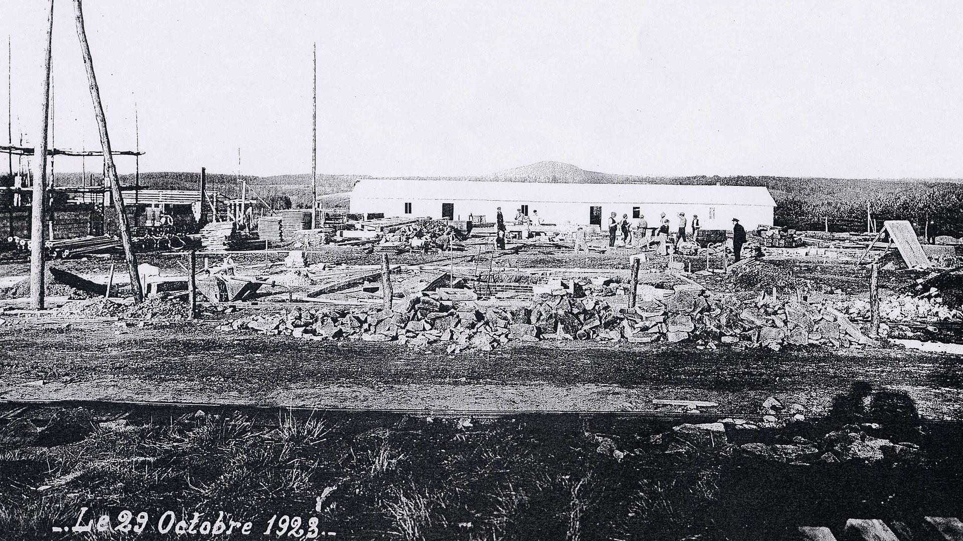 histoire-mine de Messeix -chantier en octobre 1923-