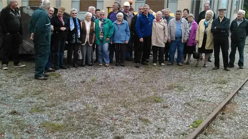 membres de l'association de la mine de Messeix -bénévoles